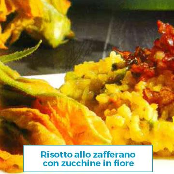 Ricetta Risotto allo zafferano con zucchine in fiore